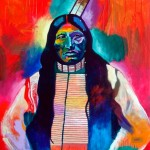 Kicking Bear, Sioux, acrylic, 44 x 40.
