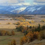 Miles of Teton Valley, oil, 36 x 36.