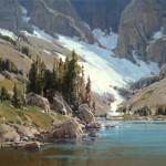 Temple Lake, oil, 40 x 48.
