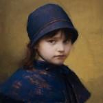 Skylar in Blue, oil, 16 x 12.