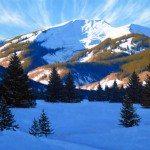 Another Bluebird Day, oil, 24 x 36.