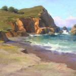 Rockaway Beach, pastel, 11 x 14.