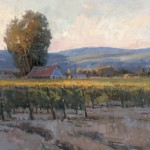 Evening Vineyard, oil, 36 x 48.