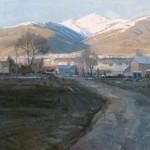 Snowy Peaks, oil, 36 x 48.