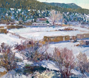 Walt Gonske, Placita Winter Day, oil, 8 x 10.