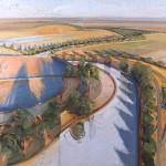 Serpentine, oil, 44 x 80.