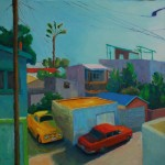 Mike's Alley, oil, 30 x 30.