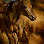 El Caballo, oil, 9 x 12.