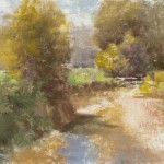 Hamilton Creek Near Story, Indiana, oil, 9 x 12, by C.W. Mundy