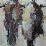 Modern Catch, oil, 40 x 30, by Barbara Flowers