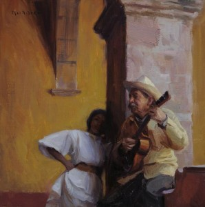 San Miguel Serenage, oil, 16 x 16, by Scott Burdick