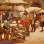 Morning Market, oil, 12 x 16, Sarah Kidner