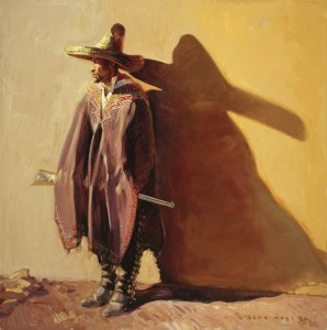 John Moyers, The Revolution&#039;s Shadow, oil, 40 x 40.