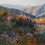 Last Light Ojai, oil, 16 x 20.