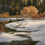 Winter Willows in Moraine Park by Cecy Turner
