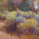 Chamisa Aglow, pastel, 16 x 20.