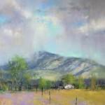 Spring Rains, pastel, 18 x 15.