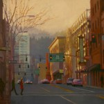 Aimee Erickson , West Side Twilight, oil, 24 x 30.