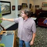 Joshua Been at his art studio in Salida, CO