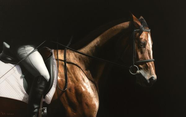 Bruce Lawes, Elegance, oil, 30 x 48.