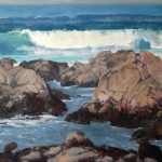 Michelle Filice, Incoming Waves, oil, 24 x 36.