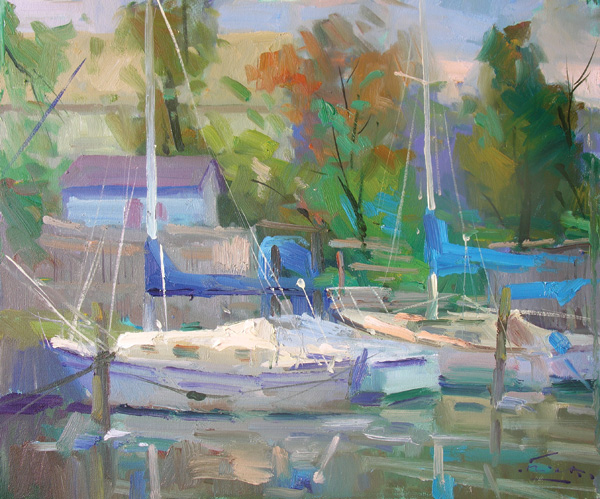 Guido Frick, Alabama Reflections, oil, 20 x 24.