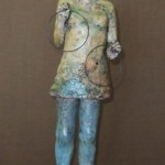 Kim Brown, Counting to Ten, terra cotta clay, 17 x 5 x 5.