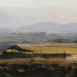 Douglas Fryer, Farm on Mountainville Road, oil, 18 x 36.
