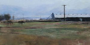 Douglas Fryer, North Valley Farm, oil, 15 x 30.