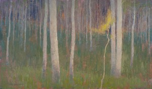 David Grossmann, Sapling, oil, 14 x 24.