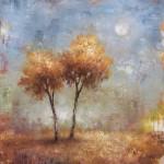 Tracey Lane, Imaginary Moon, acrylic, 40 x 36.