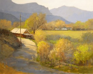 Peggy Immel, April in Dixon, oil, 16 x 20.