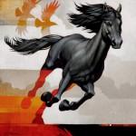 Craig Kosak, The Quest, oil, 12 x 12.