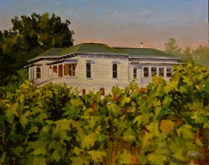 Craig Nelson, Old Vines in Alexander Valley, oil, 16 x 20.