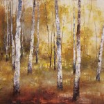 Tracey Lane, Once in a Wild Wood II, acrylic, 40 x 50.