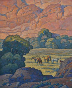 Howard Post, Canyonland Pasture, oil, 44 x 36.