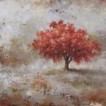 Tracey Lane, Tangerine Dream, acrylic, 36 x 40.