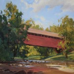 Kenn Backhaus, The Old Covered Bridge, oil, 11 x 14.