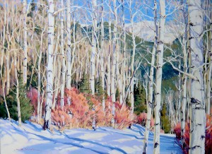 William Hook, Winter Scene, acrylic, 34 x 46.