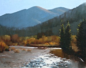 John Roush, Colorado Blue, oil, 8 x 10.
