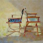 Elizabeth Sandia, Back to Back, pastel, 8 x 10.