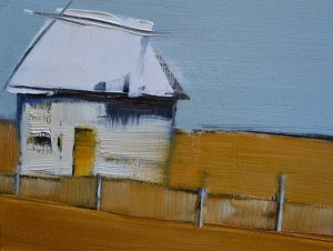 Elsa Sroka, A Different House, oil, 6 x 8.