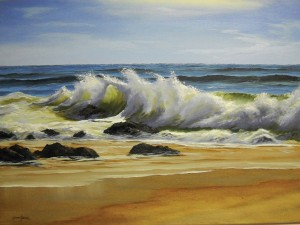 Dennis Joseph Yanoski, After Sandy, oil, 24 x 36.