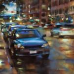 Desmond O'Hagan, 15th and Wazee, Denver, pastel, 16 x 20.