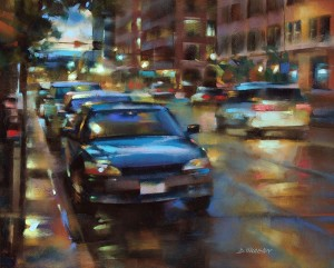 Desmond OHagan, 15th and Wazee, Denver, pastel, 16 x 20.