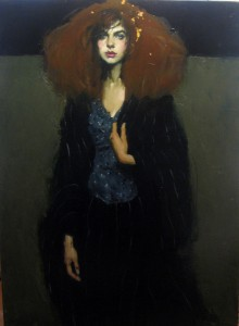 Malcolm T. Liepke, Gold In Her Hair, oil, 52 x 38, Arcadia Gallery.