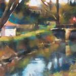 Desmond O'Hagan, Arles, France, pastel, 9 x 12.