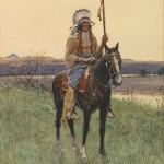 Henry Farny, Southern Plains Indian Warrior, Bonhams.