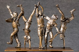 Glenna Goodacre, Olympic Wannabees Maquette, Charleston Art Auction.