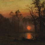 Albert Bierstadt, Sunset Over the Plains, Coeur dAlene Art Auction.